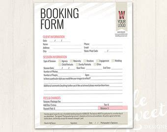 photography forms client booking form  photographer