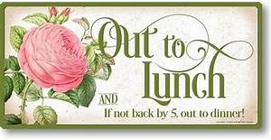 Item 12167 Out to Lunch Sign