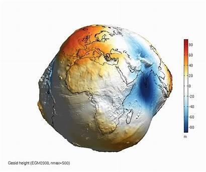 Gravity Global Geoid Globe Earth Models Potato