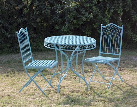 blue outdoor table and chairs shabby chic bistro set blue garden furniture set metal