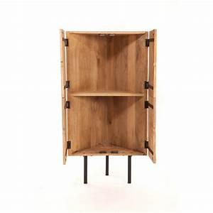 Meuble Angle Bois : meuble d 39 angle design bois ~ Edinachiropracticcenter.com Idées de Décoration