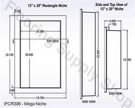 preformed ready to tile single recessed shower niche 14 x 22 made in the usa ebay