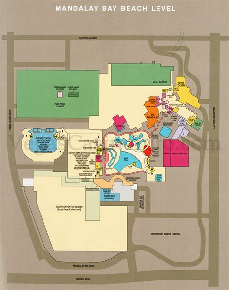 mandalay bay floor plan map las vegas casino property maps and floor plans