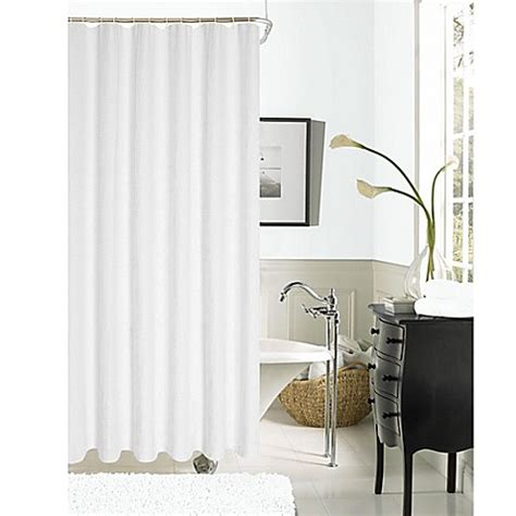 Buy Hotel Collection Waffle Shower Curtain In White From