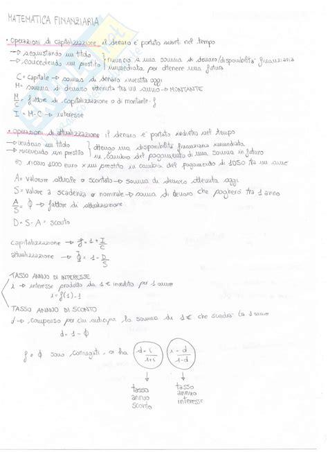 dispense matematica generale teoria di matematica generale e finanziaria