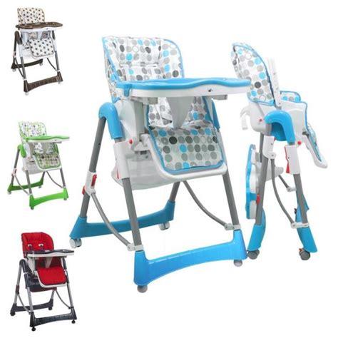 chaise haute monsieur bebe chaise haute enfant pliable réglable hauteur dossier et