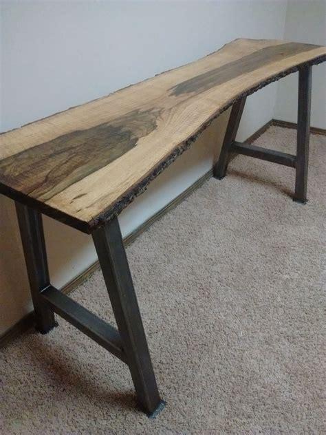 diy mid century modern tv console buy handmade live edge furniture live edge blackjack oak