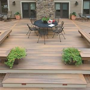 Lame De Bois Pour Terrasse : terrasse en bois composite lame fiberon horizon decklinea ~ Melissatoandfro.com Idées de Décoration