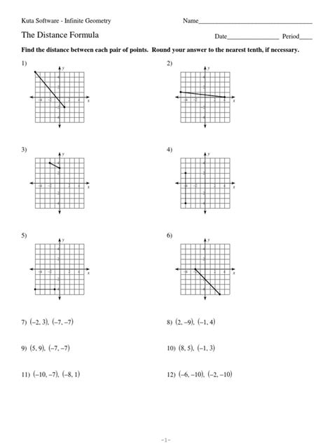 distance formula worksheet answers worksheets for all