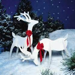 white reindeer woodworking plans for yard decor this house