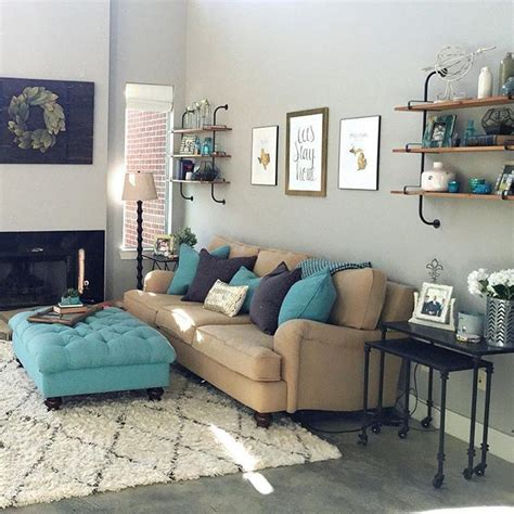 Yellow Gray And Turquoise Living Room by Living Room Tour Future Home Living Room Turquoise