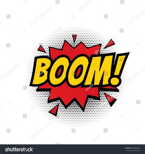 Boom Comic Text Speech Bubble Vector Stock