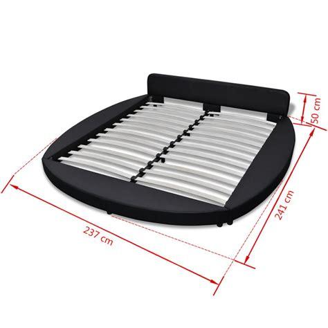 acheter vidaxl cadre de lit rond    cm cuir