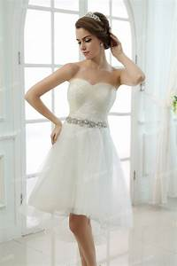 short beaded strapless wedding dress sang maestro With short halter wedding dresses