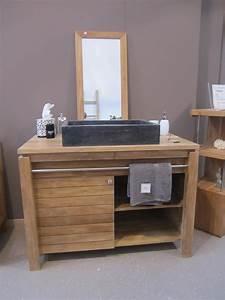 Meuble De Salle De Bain En Teck : meubles salles de bain castorama meuble de salle de bains ~ Edinachiropracticcenter.com Idées de Décoration