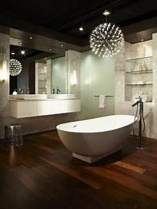 decoration wc carrelage noir wc suspendu lave main blanc With carrelage adhesif salle de bain avec lampe led esthétique