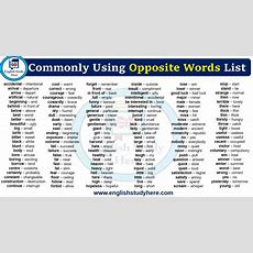 Antonyms  Opposite Words Archives  English Study Here