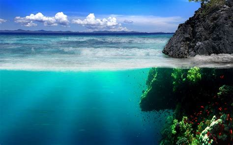 Widescreen Nature Wallpapers High Resolution Ocean Landscape Hd Background With Beautiful Desktop Wallpapers 4k High Definition Windows 10