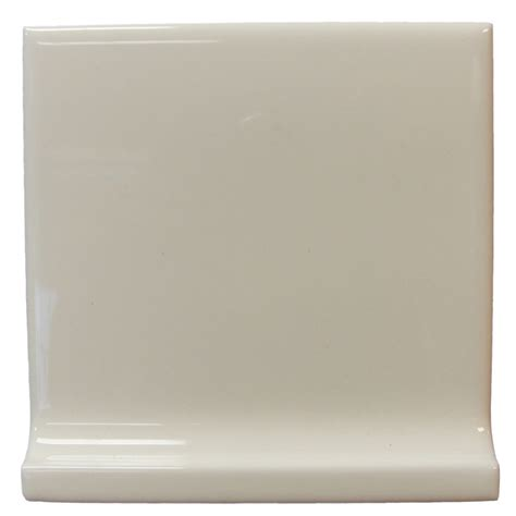 tile cove shop interceramic wall tile bone ceramic cove base tile common 4 in x 4 in actual 4 25 in x