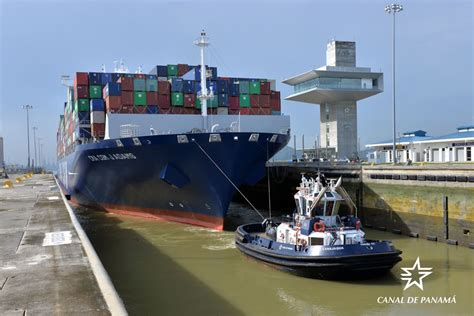 panama canal welcomes second more than 14 000 teus