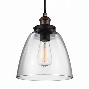 Feiss baskin light painted aged brass dark weathered zinc pendant p pagb dwz the home depot