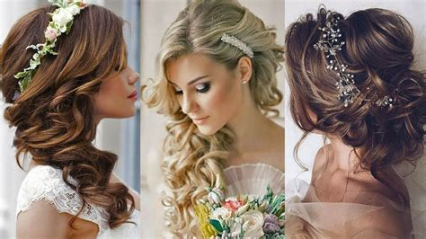 Wedding Hairstyles For Girls : Glamour Wedding Event Hairstyle 2018 For Girls