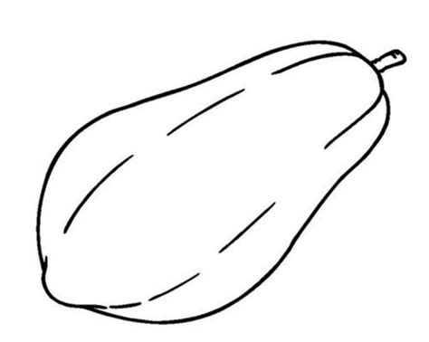 ragam contoh 28 gambar mewarnai buah pepaya