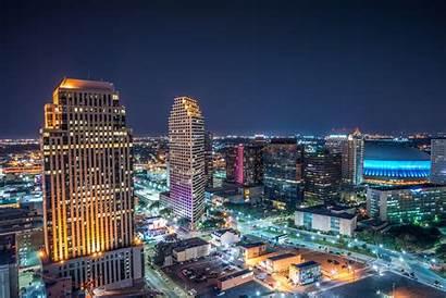 Orleans Aerial Skyline Louisiana Downtown Nola Capital