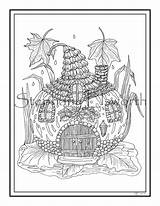 Coloring Fairy Adult Printable Instant Gourd Gourds sketch template