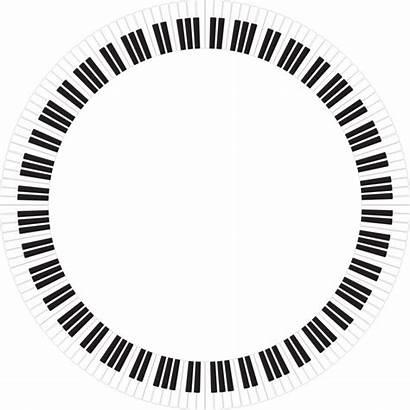 Circle Piano Keys Clipart Keyboard Inverted Svg