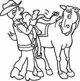 Cowboy Coloring Mewarnai Gambar Koboy Cowboys Clipart Cliparts Indians Anak Orang Clip Sawah Popular Kitty Pemandangan Gunung Ini Library Purple sketch template