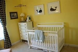 Chambre Bebe Jaune : la peinture chambre b b 70 id es sympas ~ Nature-et-papiers.com Idées de Décoration