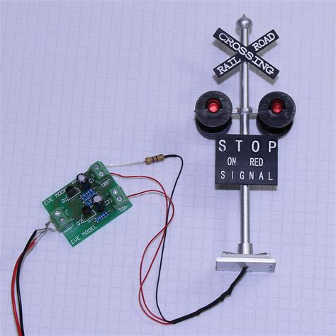 Set Scale Railroad Crossing Signals Heads Led Made