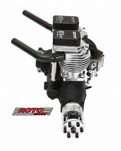 Roto 85 Fsi Inline 85cc Rc Model Gas Engine  5 5hp  2800gr