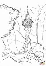 Coloring Tower Pages Rapunzel Rapunzels Drawing Printable Paper Dot sketch template
