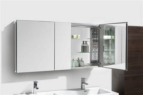 Wide Mirrored Bathroom Cabinet by 50 Quot Wide Mirrored Bathroom Medicine Cabinet
