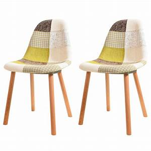 Chaise Scandinave Verte : chaise arctik patchwork verte lot de 2 testez nos ~ Teatrodelosmanantiales.com Idées de Décoration