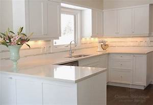 White shaker kitchen cabinets design ideas for White countertops with white cabinets