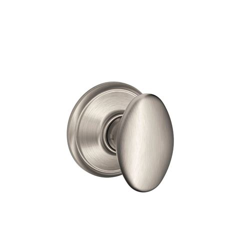 schlage siena satin nickel and closet knob f10 sie
