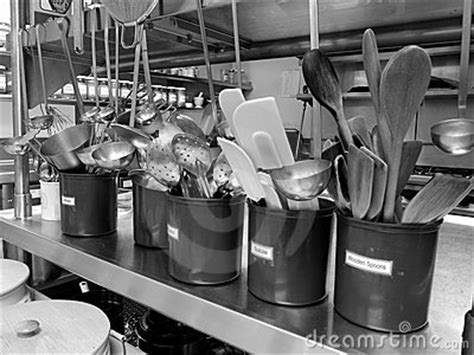 Commercial Kitchen: Utensils Royalty Free Stock Image
