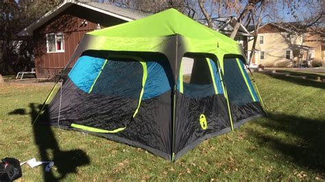 coleman dark room  instant tent youtube