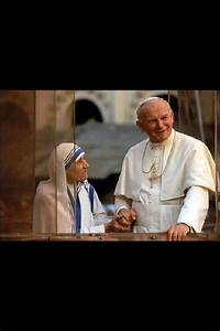 Mother Theresa with Pope John Paul II | Mother Theresa ...
