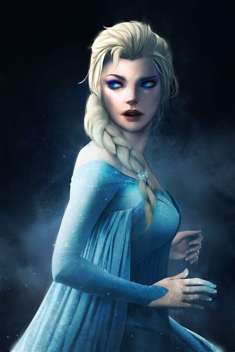 princess elsa frozen  artwork wallpapers hd