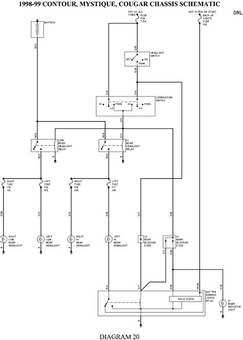 98 Ford Contour Wiring by Solved 98 Ford Contour Wiring Diagram Fixya
