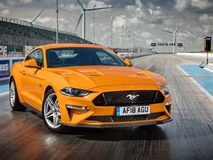 Desktop wallpaper ford mustang gt fastback, yellow, front, 2018, hd image, picture, background ...