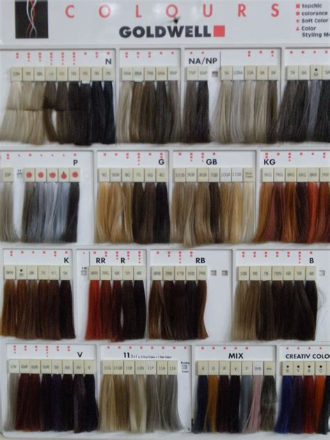 Swatches Of Hair by Professional Hair Color Swatches Goldwell Color Swatches