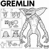 Gremlin Drawing Gremlins Getdrawings sketch template