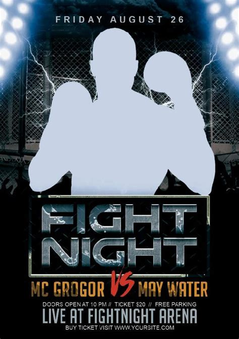 fight night flyer psd template  psd