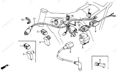 honda motorcycle 1986 oem parts diagram for wire harness partzilla com
