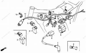 Honda Motorcycle 1986 Oem Parts Diagram For Wire Harness
